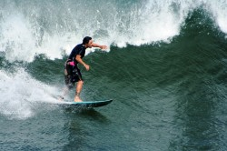 Surfing on the Kohala Coast